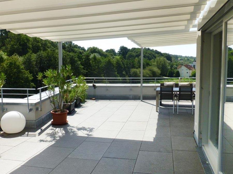 Sonnensegel für Terrassen: VELUSOL - Das Wettersegel | Freiburg 3