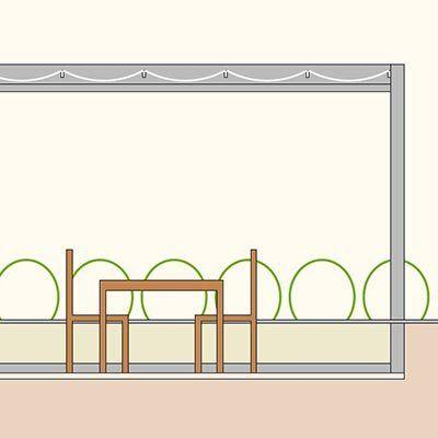 Das VELUSOL 110 mit integrierter Entwässerung eignet sich besonders für Dachterrassen.