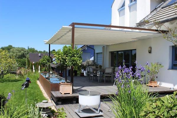 reihenhaus mit garten dachterrasse velusol das wettersegel sonnensegel aus freiburg. Black Bedroom Furniture Sets. Home Design Ideas
