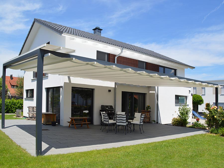 Sonnensegel für Terrassen: VELUSOL - Das Wettersegel | Freiburg 11