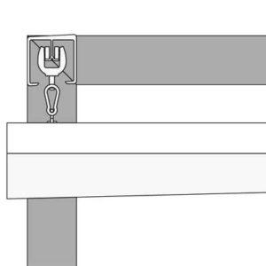 Profilzeichnung der Ecke eines VELUSOL 80 0-Grad