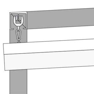 Profilzeichnung der Ecke eines VELUSOL 80 3-Grad